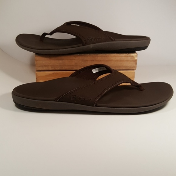 4001a37e9b8 Spenco Men s Yumi Size 12M Support Sandals Brown. M 5a66961b00450f42aff82ee4
